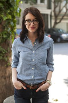 chambray shirts for the win. Even though we're on the downslope of summer.