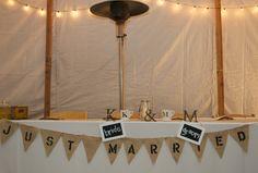 head table - wedding reception decor.