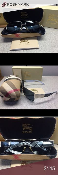 Authentic Burberry chic aviator sunglasses ✨ Authentic Burberry chic aviator sunglasses ✨ • extra replacement lens • excellent condition and comes with the case, box, and pamphlets • no trades • make an offer 🎉 Burberry Accessories Sunglasses