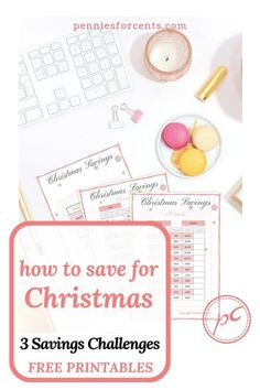 3 Christmas savings plan money challenges with monthly & weekly option.PLUS free printable tracker templates AND tips to help you find the money to save for the holidays. Christmas Savings Plan, Christmas On A Budget, Money Challenge, Savings Challenge, Best Budgeting Tools, Sinking Funds, Household Budget, Budget Binder, Making A Budget