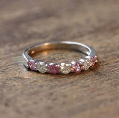 441bb5f749 Size 7.25 Natural Pink Sapphire and Diamond by MidPointDesign Sapphire  Stone