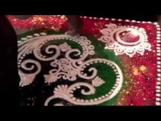 How to cover corner in the room with your rangoli? Call 8108101524 for Rangoli DVDs to learn rangoli at home. Rangoli Borders, Rangoli Border Designs, Rangoli Designs Diwali, Diwali Rangoli, Beautiful Rangoli Designs, Corner Rangoli, Sanskar Bharti Rangoli Designs, Rangoli Simple, Design Youtube