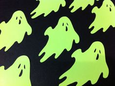 Paper Ghosts...12 Piece Set of Cute and Spooky by JudeAlyssaMarkus, $2.87
