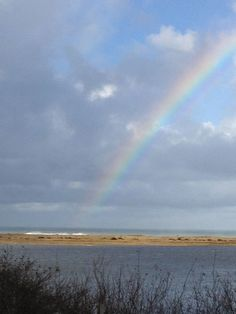 Rainbow over the Pacific Ocean, Dry Lagoon State Park