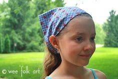 Stretchy Bandana Headband - Wee Folk Art Bandana Styles, Scrunchies, My Girl, Folk Art, Headbands, Your Hair, Sewing Projects, Fashion, Moda