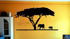 Africa Wall Tattoo