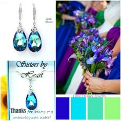 Swarovski Jewelry Set handmade and available in many colors.