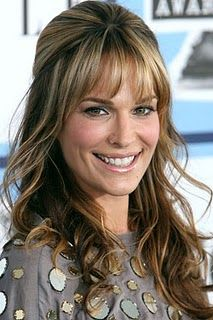 Thinking bangs this fall...only it's an upkeep...and I'm not Molly Sims.