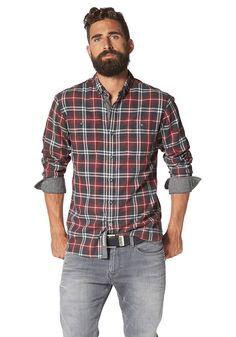 MANGO MAN Kariertes Slim Fit Baumwollhemd 01d03d9f8c
