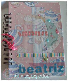 #Dulce tentación #libreta #recetas #scrap Notebook, Hand Made, Sweets, Creativity, Recipes, The Notebook, Exercise Book, Notebooks