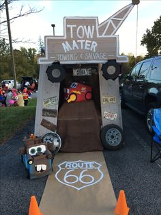 Trunk & Treat New Cars Decorations Party Trunk Or Treat Ideas Watering Your Lawn Article Body: Water Holidays Halloween, Halloween Treats, Halloween Party, Trunker Treat Ideas, Halloween Car Decorations, Truck Or Treat, Halloween Traditions, Trunks, Design