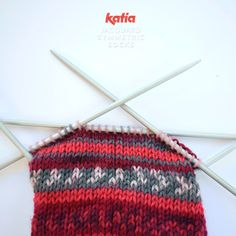 In these step by step instructions we are going to show you how to knit socks using only one ball of Katia Jacquard Symmetric Socks. Tube Socks, My Socks, Knitting Socks, Knitted Hats, Knit Socks, Cute Crochet, Crochet Top, Knitting Projects, Knitting Patterns