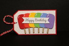 Popsicle Happy Birthday Tags  Gift Tags  Wine by PaperKayper