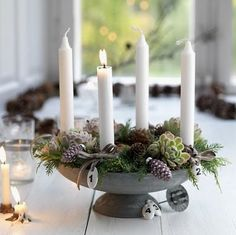 Aventslys is four candles.one is lit every week starting on the first Sunday of… – Advent Wreath İdeas. Noel Christmas, Christmas Candles, All Things Christmas, Winter Christmas, Christmas Crafts, Christmas Decorations, Holiday Decor, Xmas, Classy Christmas