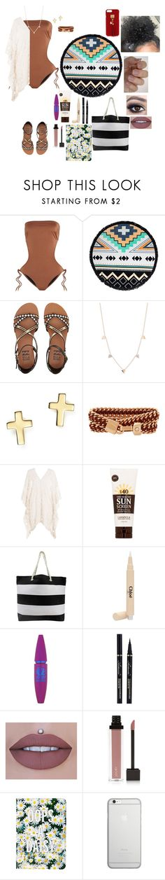 """Untitled #519"" by qwert123456 ❤ liked on Polyvore featuring Melissa Odabash, The Beach People, Billabong, Kismet by Milka, Bloomingdale's, Henri Bendel, Eberjey, Lavanila, Chloé and Maybelline"