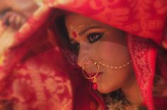 """""""Your #gorgeous and #sparkling eyes force me to lose my thoughts."""" #bengalibride #bridalmakeup #weddingphotography PC: Souvik"""