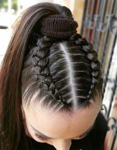 Sporty Hairstyles, Cool Braid Hairstyles, Easy Hairstyles For Long Hair, Baddie Hairstyles, Braids For Long Hair, Pretty Hairstyles, Girl Hairstyles, Braids For Girls, Athletic Hairstyles
