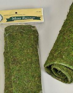 Dried Moss Table Runner for decorations at your wedding, party, event. Found at Drieddecor.com