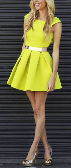 Floyd Dress in Sulphur : AQ/AQ Formerly Aqua by Aqua $103.50
