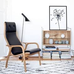 One of the most comfortable Swedish designed chairs out there, the Lamino Chair by Swedese.  #scandinaviandesign #husetshop #swedishdesign #lamino #interiordecor #chairs