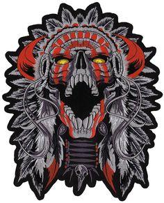 Horned Chief patch - Aufnäher Horned Häuptling - chevron El cornudo jefe - нашивка Рогатый Вождь