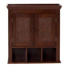 @Overstock - This casual and sophisticated wall storage cabinet from Jasper features hand-woven cane panels. A dark espresso finish completes this bathroom cabinet.http://www.overstock.com/Home-Garden/Jasper-Dark-Espresso-Wall-Storage-Cabinet/5692985/product.html?CID=214117 $73.99