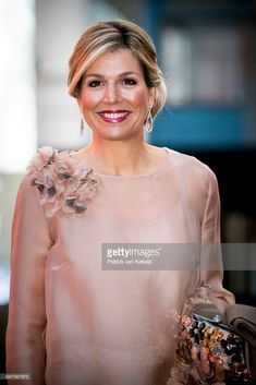Queen Maxima of the Netherlands attends the premiere of the musical The color Purple on April 16, 2018 in Amsterdam, Netherlands.