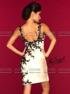 Vestido de Festa Curto Plissado com Renda Sakura 61412 - Click Image to Close