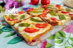 Pizza Poğaça Tadında Kahvaltılık Dilimler Tarifi nasıl yapılır? 4.400 kişinin defterindeki bu tarifin resimli anlatımı ve deneyenlerin fotoğrafları burada. Yazar: Nesli'nin Mutfağı Hawaiian Pizza, Vegetable Pizza, Quiche, Brunch, Vegetables, Breakfast, Ethnic Recipes, Food, Kitchen