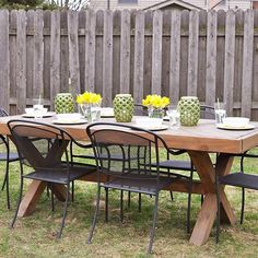 "I'm very impatiently waiting for some warmer weather and dreaming of outdoor dinners! Today on the blog I'm sharing a few tips for outdoor entertaining with @bhglivebetter_! Get the plans for the table too by searching ""DIY outdoor table"" #outdoorfurniture #spring #bhghome #bhgcelebrate #bhglivebetternetwork #sp #buildlikeagirl"