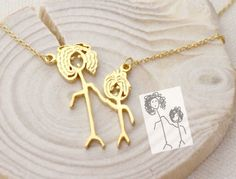 A necklace customized to look like a piece of children's artwork. | 57 Of The Most Amazing Gifts Of 2016