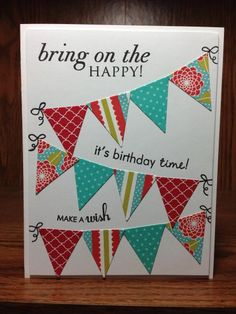 Papertrey Ink - Banner Builder Die Collection (set of Papertrey Ink Clear Stamps Dies Paper Ink Kits Ribbon Handmade Birthday Cards, Happy Birthday Cards, Greeting Cards Handmade, Washi Tape Cards, Birthday Card Sayings, Karten Diy, Bday Cards, Cricut Cards, Paper Cards