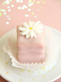 Poured Fondant Petit Fours | Sprinkle Bakes
