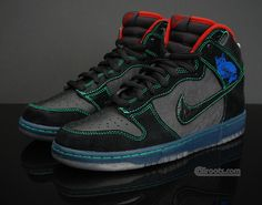 look at my shoes, my shoes are amazing.  Nike SB Dunk High Premium - Twin Peaks Sneakers