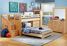 Shop for a Carter's Kids Collection Lost Creek Pine 10 Pc Twin Jr. Step Bunk Bedroom w Chest at Rooms To Go Kids. Find  that will look great in your home and complement the rest of your furniture.