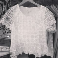 Probably the cutest top ever. #liketkit liketk.it/7HQ @LIKEtkit @Anthropologie white polka dot lace top