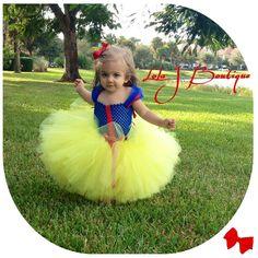 Snow White Tutu Dress SET ALL Children SIZES 6 by LolaJBoutique