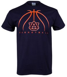 basketball+spirit+shirts | Auburn Basketball 2012 Adult T-Shirt - Navy