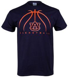 basketball+spirit+shirts | Auburn Basketball 2012 Adult T-Shirt - Navy