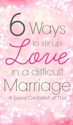 "Marriage is a lot of hard work! Especially in a difficult marriage, often those ""lovin' feelings"" fade away! Here are 6 ways to stir up love and rekindle romance - the second part of a real and raw post about those times in marriage when we just don't fee Marriage Romance, Biblical Marriage, Best Marriage Advice, Healthy Marriage, Saving Your Marriage, Save My Marriage, Marriage Relationship, Marriage And Family, Marriage Devotional"