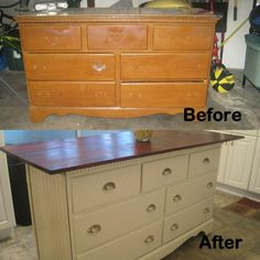 Old dresser I turned into kitchen island | For the Home