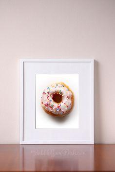 Kitchen wall art  Donut pictures  Wall Art  by BubbleGumDish
