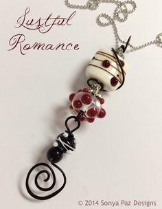 """Lustful Romance"" Pendant. $56 www.sonyapaz.com"