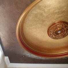 Metallic Plaster and Metallic Paint Ceiling