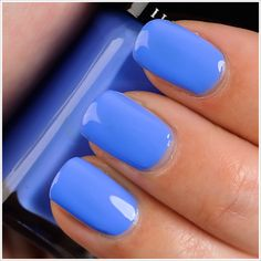 "Illamasqua Cameo Nail Varnish ($14.00 for 0.50 fl. oz.) is described as a ""cornflower blue."" (Sephora has it listed as ""periwinkle blue."") It's a dusty, cornflower blue that leans noticeably purple."