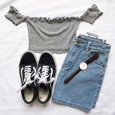 Shorts outfit clothing accessories, casual wear on stylevore Tumblr Outfits, Mode Outfits, Short Outfits, Trendy Outfits, Teenager Outfits, College Outfits, Teen Fashion Outfits, Outfits For Teens, Look Girl