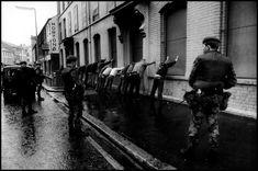 NORTHERN IRELAND. Belfast. 1972. Battle between IRA and British Army.