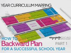 Backwards Planning for School Year Success - Curriculum Mapping
