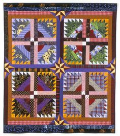 "Alexandra's Quilt, 67"" x 59"", by Rebecca Rohrkaste.  1991. Private collection"
