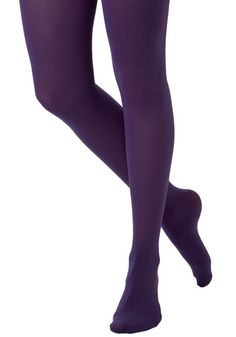 Modcloth Tights for Every Occasion in Grape  Searching for that special shade of tights for your upcoming event? You won't find better, bolder legwear than these on-trend tights. These super comfy, and oh-so-bright tights are a solid shade of purple from waist to toe, boast a denier of 80, and are sure to be the ideal accent for your outstanding outfit. Whether you're pairing them with a solid dress and posh pumps, or a flouncy mini and knee high boots, these terrific tights are the perfect…